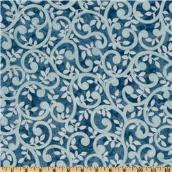 Normandy Court 108'' Quilt Backing Scrolling Vines Light