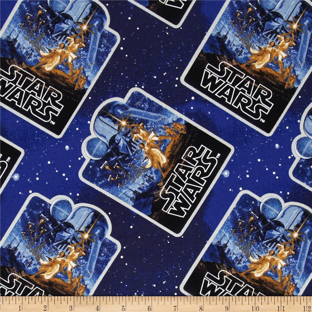 Star wars vintage poster discount designer fabric for Star design fabric