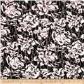 Floral Printed Novelty Lace Knit White/Black