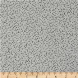 "108"" Wide Quilt Back Emma Vine Light Grey"