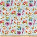Rainbow Seeds Florals Allover Blue