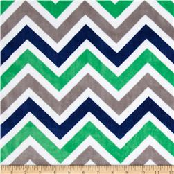Minky Cuddle Zig Zag Kelly/Midnight/Snow Fabric