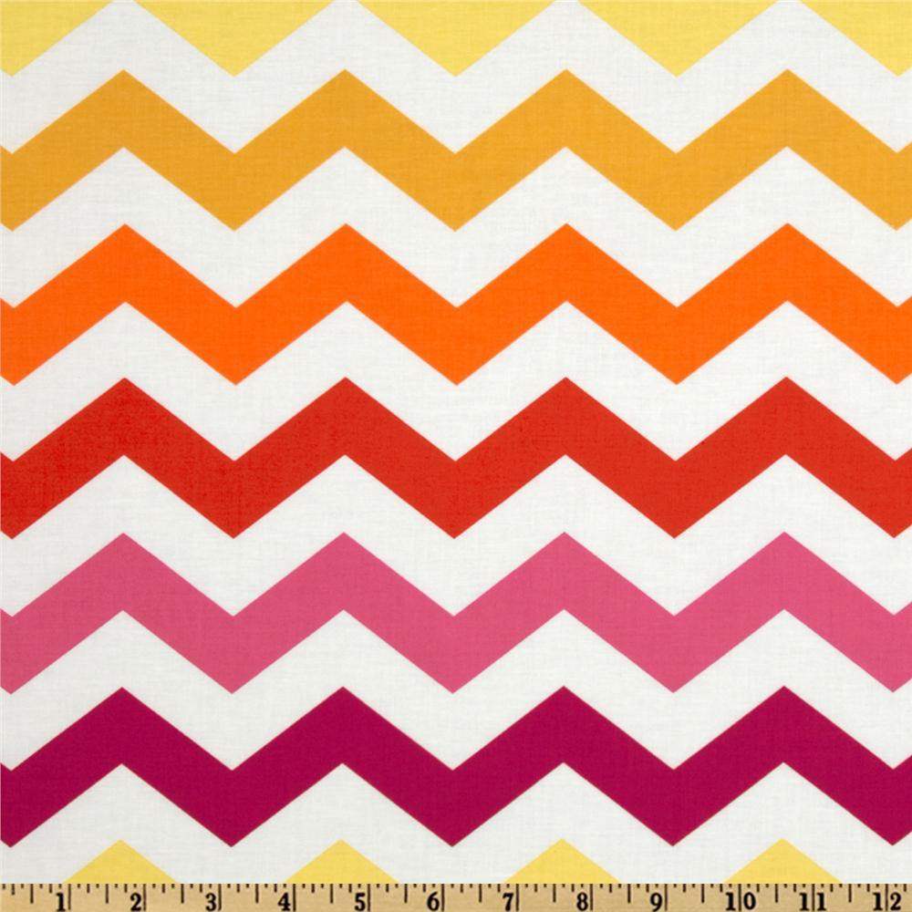 Michael Miller Stripes Chic Chevron Sun Yellow - Discount Designer ...