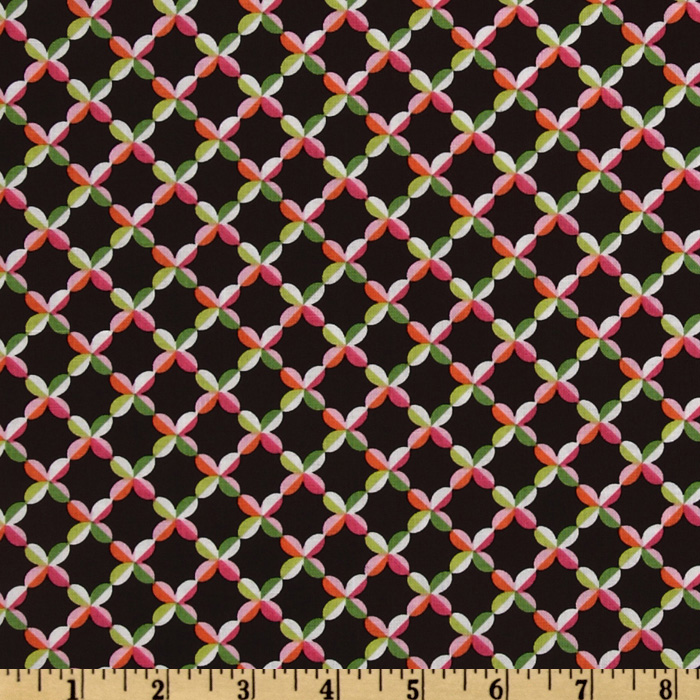 Michael Miller Cocoa Berry Beatrice Weave Chocolate Fabric