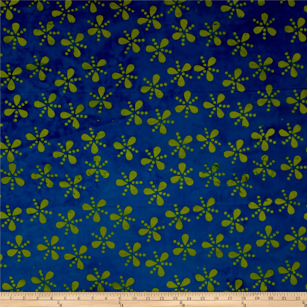 Island Batik Lavish Seeds & Dots Lime/Navy