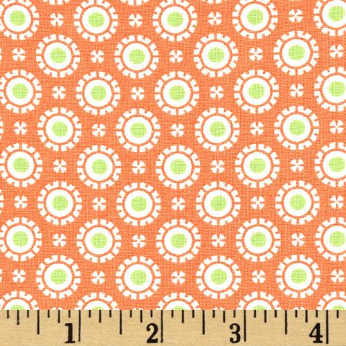 Moda Hi De Ho Fancy Dots Orange