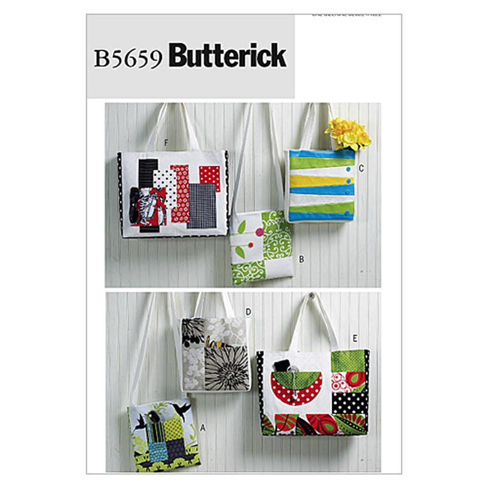 Butterick Totes and Bags Pattern B5659 Size OSZ