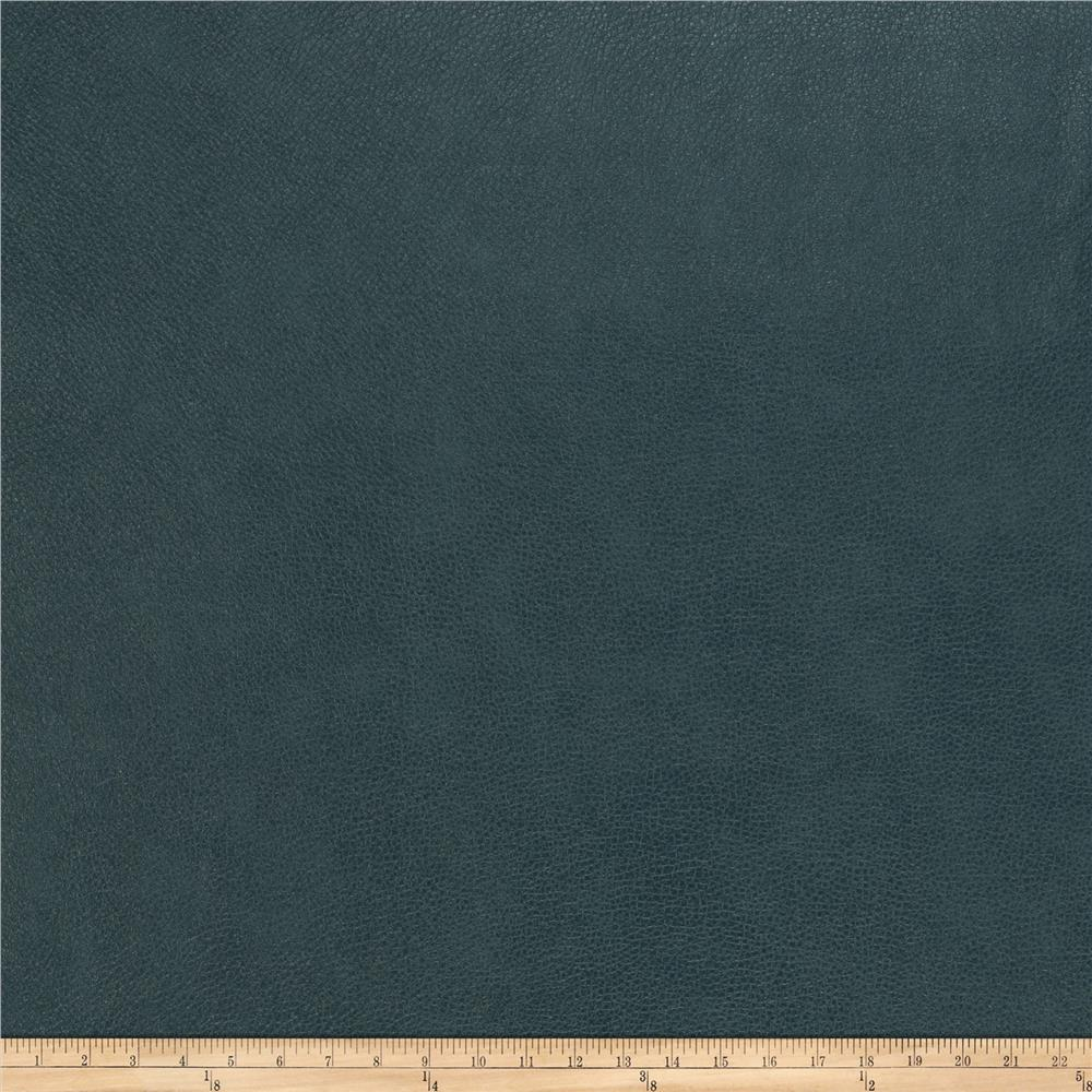 Fabricut Willowdale Faux Leather Teal