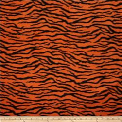 Printed Fleece Tiger Orange