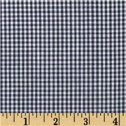 Gingham 1/16'' Checks Galore Navy Fabric