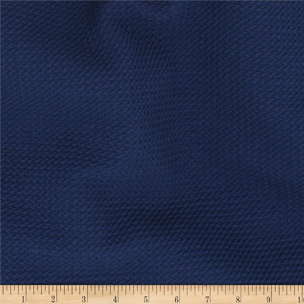 Telio paola pique knit navy discount designer fabric for Purchase fabric by the yard