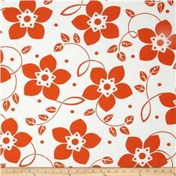 Contempo Brigitte Large Bloom Persimmon/White