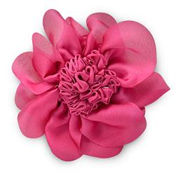 3'' Ruched Flower Pin And Hairclip Fuchsia