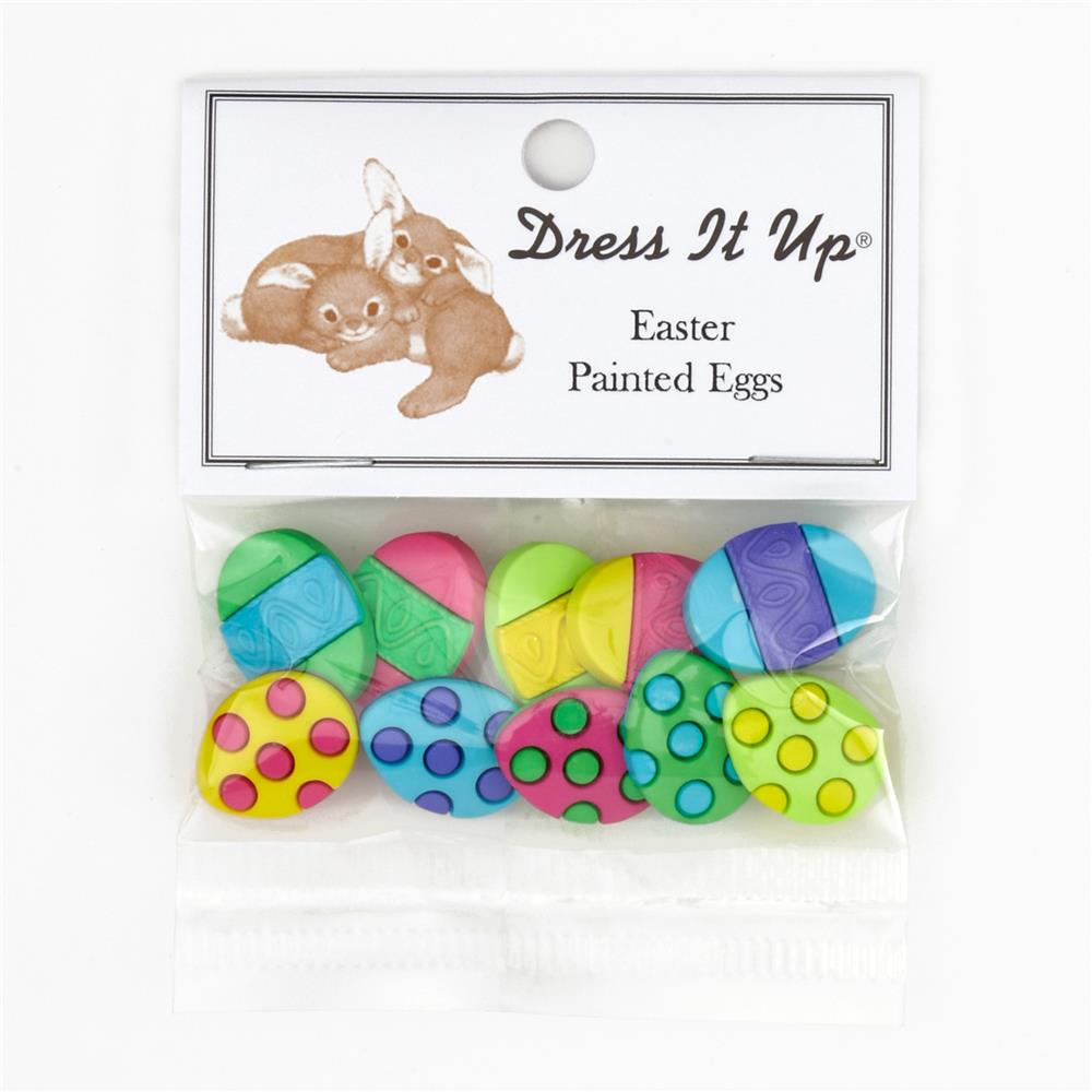 Dress It Up Embellishment Buttons  Painted Eggs