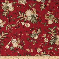 Moda Merriment Christmas Bouquet Red
