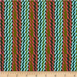Amy Butler Bright Heart Rhythm Stripe Olive