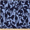 Michael Miller Cynthia Rowley Oh Baby Animal Silhouettes Navy