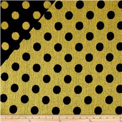Telio Wool Polka Dot Black/Yellow