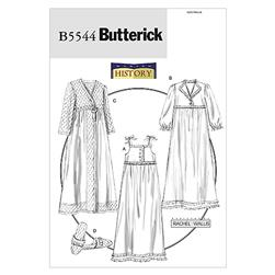 Butterick Misses' Nightgown, Robe and Slippers Pattern B5544 Size 0Y0