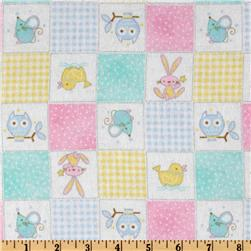 Comfy Flannel Animal Patchwork Multi