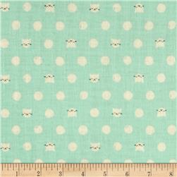 Cotton & Steel Cat Lady Double Gauze Friskers Teal