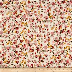 Stretch Floral Lace Pink/White/Yellow