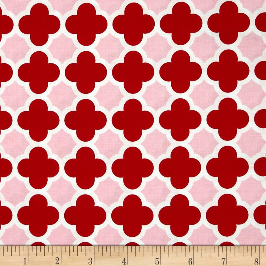 Riley Blake Quatrefoil Red/Hot Pink