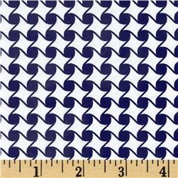 Jet Setter Geo Diamond Navy Fabric