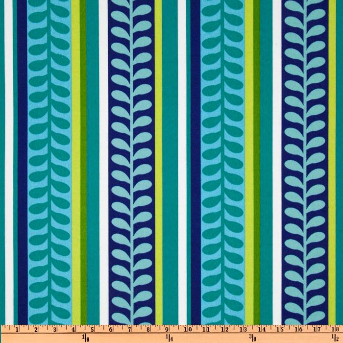 Richloom Solarium Outdoor Pike Stripe Azure