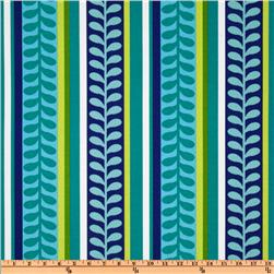 Richloom Solarium Outdoor Pike Stripe Azure Home Decor