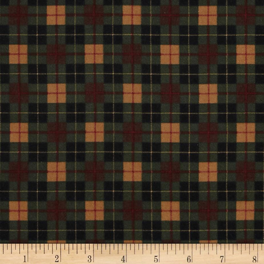 Timeless Treasures Christmas Flannels Mini Plaid Pine