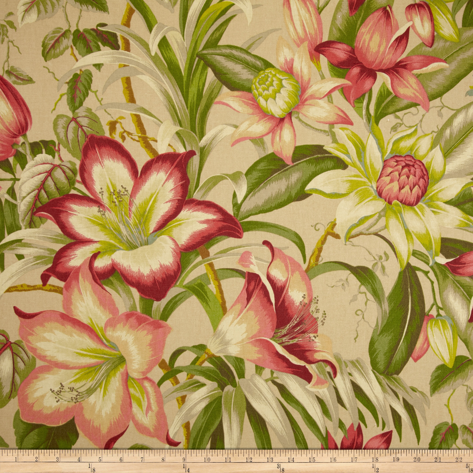 Tommy Bahama Home Botanical Glow Bonfire Fabric