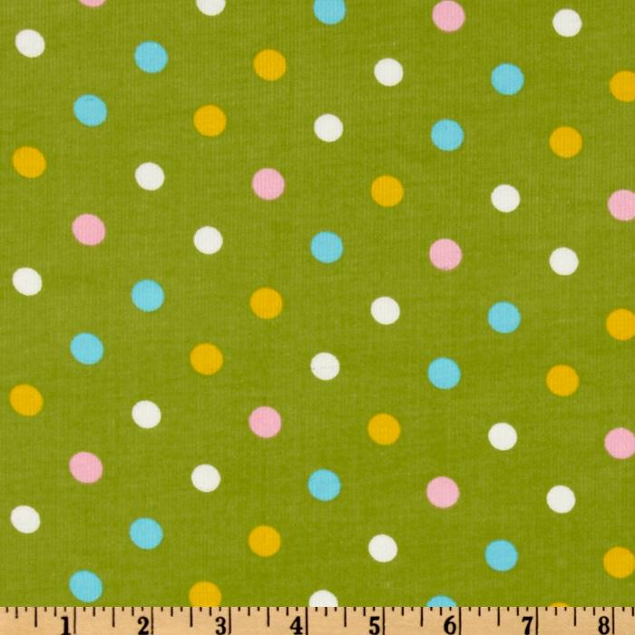 Kaufman 21 Wale Cool Cords Large Dot Sweet Pea