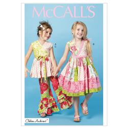 McCall's Children's/Girls' Dresses, Belts and Pants Pattern M6497 Size CDD