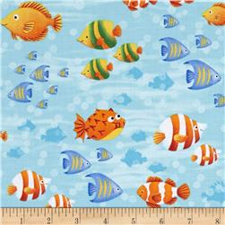 Little Mermaids Fish Blue/Multi