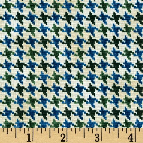 Nature's Glory Houndstooth Blue