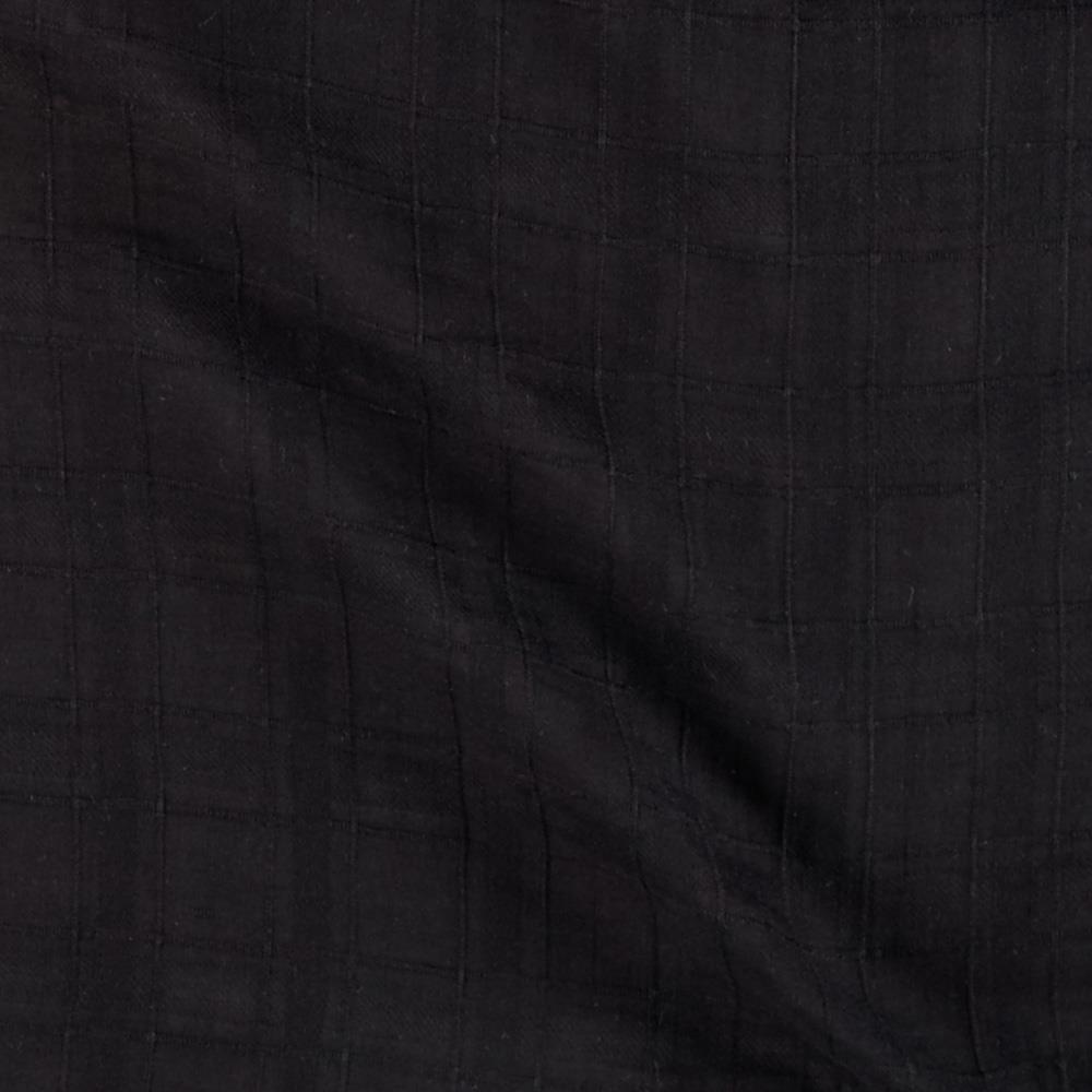 Shadow Plaid Voile Black