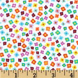 Timeless Treasures Garden Grow Mini Floral White Fabric