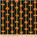 Halloween Hoot Jack-O-Lantern Stripe Black