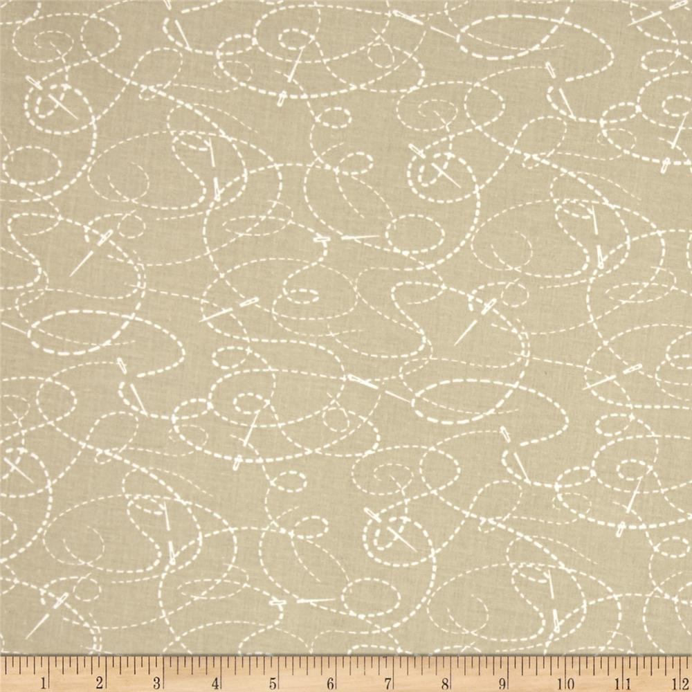 """108"""" Wide Quilt Back Needle And Thread Taupe"""