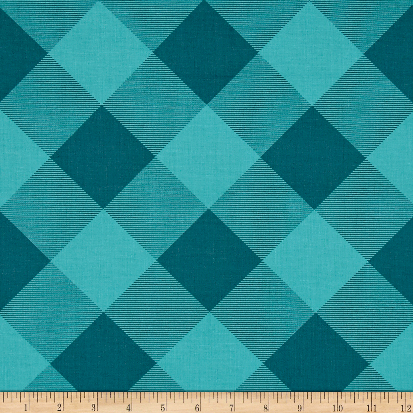Joel Dewberry Modernist Pure Plaid Aegean Fabric by Westminster in USA