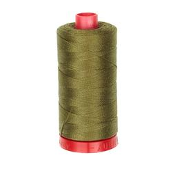 Aurifil 12wt Embellishment and Sashiko Dreams Thread Dark Olive