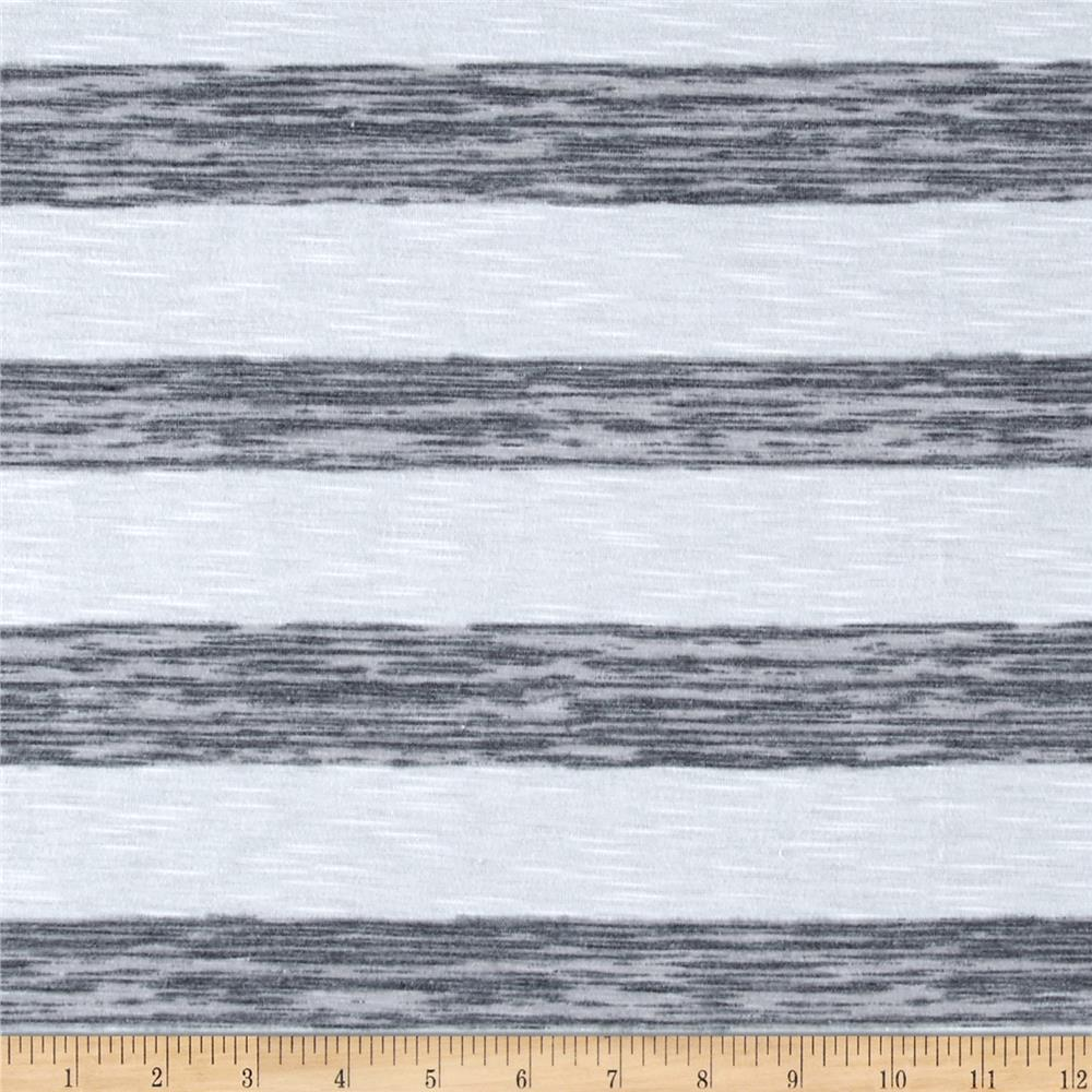 Jersey Knit Space Dyed Jersey Stripe Grey White