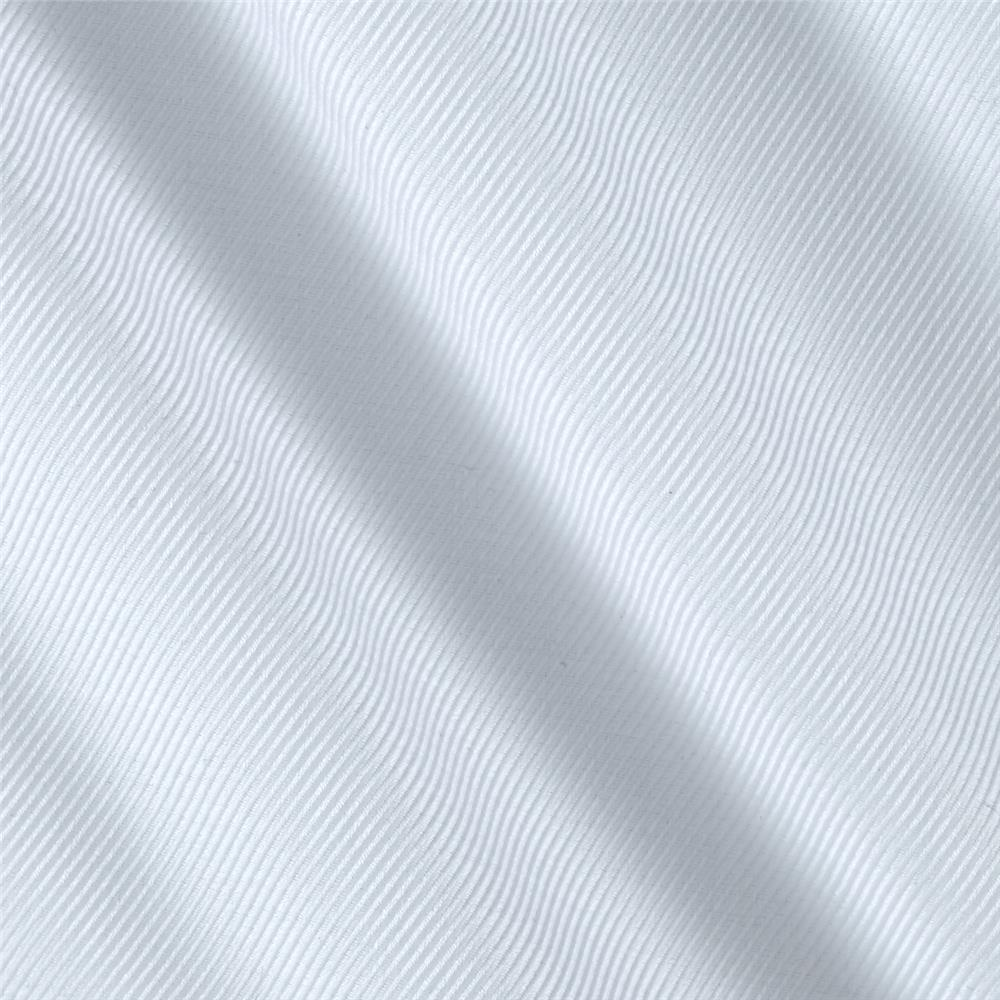 Kaufman White Shirt Dobby Diagonal Stripe White Fabric By The Yard