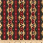Timeless Treasures Cabin Blanket Stripe Red