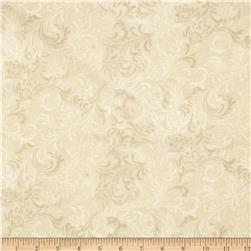 Essentials 108'' Wide Quilt Back Flourish Ivory Fabric