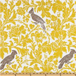 Premier Prints Barber Slub Yellow/Taupe Fabric