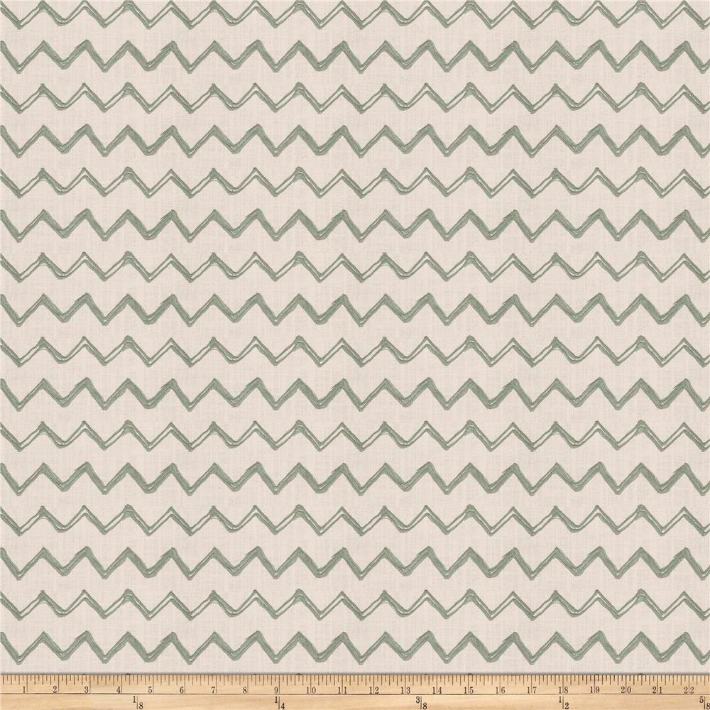 Fabricut Pip Chevron Embroidered Faux Linen Nile
