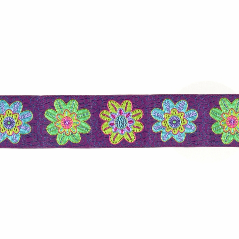1 1/2'' Sue Spargo Flowers Ribbon Purple