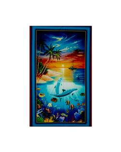 Dolphin Island Digital Panel Turquoise